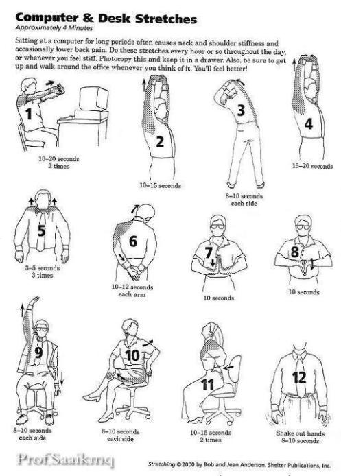 health tips let s do the 4 minute stretching office exercise the